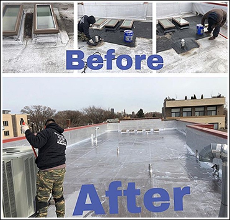 Before and After Roof Coating