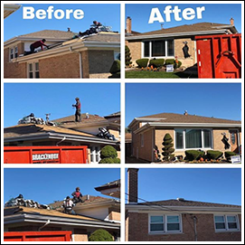 Before and After Roof Work
